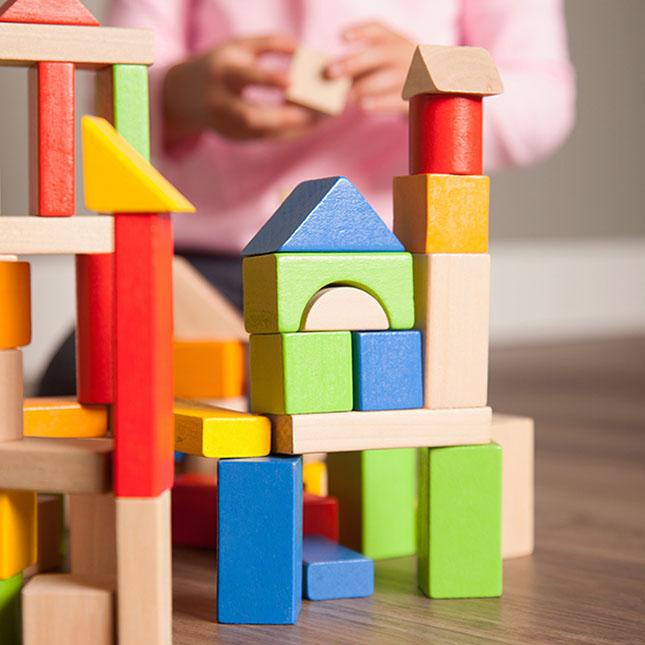 TimberBlocks - 100 Piece Wooden Block Set Image
