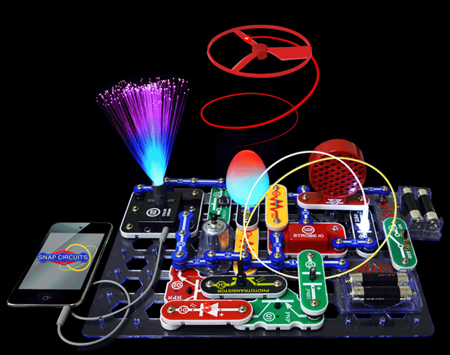 Electronic Toys For Big Boys : Snap circuits light