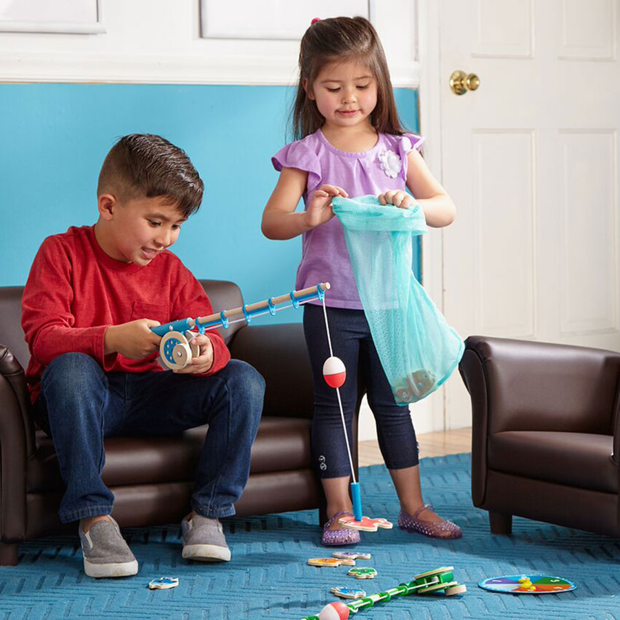Catch count magnetic fishing rod set for Toddler fishing rod
