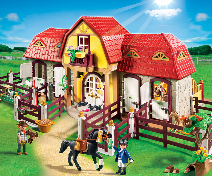 Playmobil pony ranch large horse farm with paddock for Playmobil pferde set