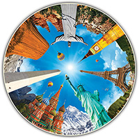 Round Table 700 Piece Puzzle - Legendary Landmarks