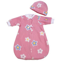 PlayTime Baby 2 pc Bunting Set - Pink