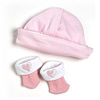 PlayTime Baby Hat/Sock Set - Pink