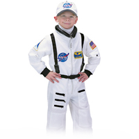 White Jr. Astronaut Suit with Embroidered Cap - Size 4/6