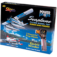 2 Power Props Seaplanes - Red & Blue