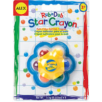 Star Crayon in the Tub