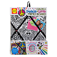 Color a Memo Board - Peace & Love