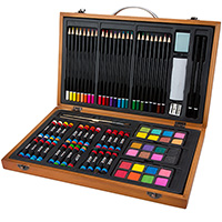 Wood Portable Art Set