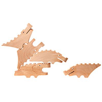 Croc Pile Wooden Blocks