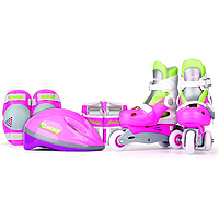 Chicago Skates 2 in 1 Training Skate Combo - Pink/Green