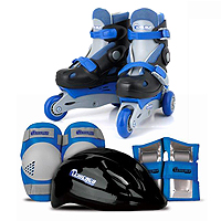 Chicago Skates 2 in 1 Training Skate Combo - Blue/Black
