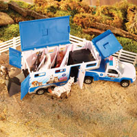 Stablemates Animal Rescue Truck & Trailer with Lights and Sound
