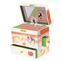 Enchantmints Curious Kittens Music Box