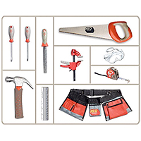 Red Toolbox 10 piece Toolset
