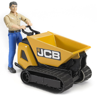 JCB Dumper HTD-5 and Construction Worker