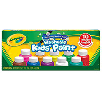 10 ct. 2 oz. Bottles - Assorted Color Washable Kid's Paint