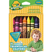 Crayola Beginnings - 16 ct. Washable Triangular Crayons