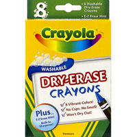 8 ct. Washable Dry-Erase Crayons
