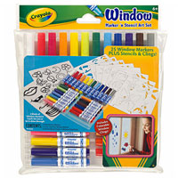Window Marker N Stencils Art Set