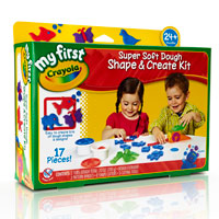 My First Crayola Super Soft Dough Shape & Create Kit