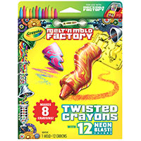 Melt & Mold Twisted Crayons - Neon Blast Pack