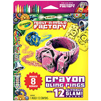 Melt & Mold Factory Crayon Blings & Rings - Glitteratti Glam Pack