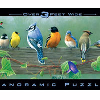 Songbirds 750 piece panoramic puzzle