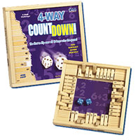 4 Way Countdown Wooden Game