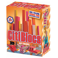 Citiblocs Hot Colors - 50 pc