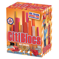 Citiblocs Hot Colors - 100 pc