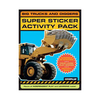 Big Trucks and Diggers Super Sticker Activity Pack