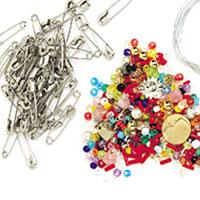 Safety Pin Charm & Bead Bracelets
