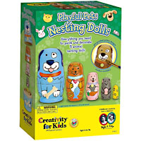 Playful Pets Nesting Dolls