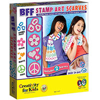 BFF Stamp Art Scarves