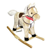 Blonde Rocking Horse - Moving Mouth & Tail