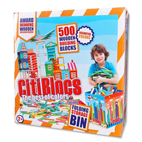Citiblocs 500 pc Multicolor Set with Storage Bin