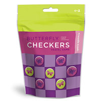 Butterfly Checkers Travel Pouch Game