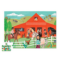 Barn Shaped Box Puzzle - Horse Stable