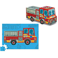 Fire Truck Vehicle Puzzle 48 pc
