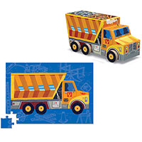 Dump Truck Vehicle Puzzle 48 pc