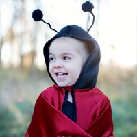 Ladybug Toddler Hooded Cape