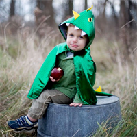 Dragon Toddler Hooded Cape