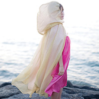 Royal Princess Cape - Gold/Pink