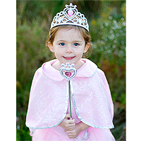 Glitter Heart Tiara and Wand Set