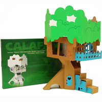 Cardboard Decorate-it-Yourself Treehouse