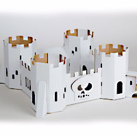 Cardboard Decorate-it-Yourself Pirate Fortress