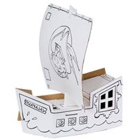 Cardboard Decorate-it-Yourself Pirate Ship