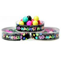 20 Solid Colored Magnet Marbles