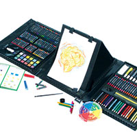 Art 101 Double Sided Trifold Easel Art Set - 179 pc