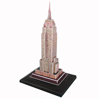 3D Empire State Building Puzzle with LED